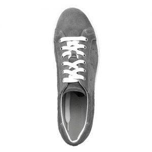 978 sneakers camoscio grigio fondo cucito sopra