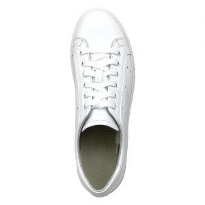 978 sneakers nappa bianca fondo cucito bianco sopra