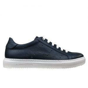 978 sneakers nappa blu fondo cucito bianco profilo