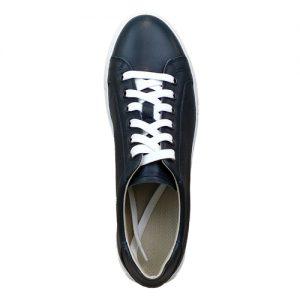 978 sneakers nappa blu fondo cucito bianco sopra